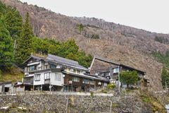 Καυτή άνοιξη πιθήκων, κοιλάδα κόλασης, Jigokudani, Ιαπωνία στοκ εικόνες