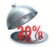 Καυτή έκπτωση 20 τοις εκατό Στοκ Φωτογραφία