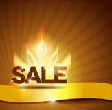 Καυτή αφίσα πώλησης, όμορφο φωτεινό σχέδιο Στοκ Φωτογραφίες