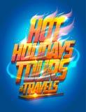 Καυτή διανυσματική αφίσα γύρων και ταξιδιών με σκοπό τις διακοπές Στοκ φωτογραφίες με δικαίωμα ελεύθερης χρήσης