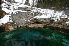 Καυτή λεκάνη ανοίξεων Banff Στοκ εικόνες με δικαίωμα ελεύθερης χρήσης