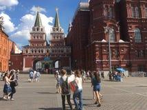 Καυτή ημέρα στη Μόσχα κοντά στην κόκκινη πλατεία Στοκ Εικόνα