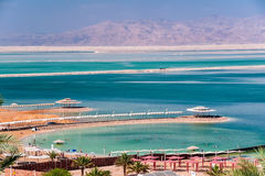 Καυτή ημέρα στη νεκρή θάλασσα στοκ φωτογραφία με δικαίωμα ελεύθερης χρήσης