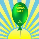 Καυτή διανυσματική απεικόνιση θερινής πώλησης Προωθητικό σχέδιο διακοπών Στοκ Εικόνες