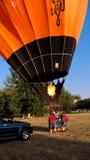 καυτή διόγκωση μπαλονιών αέρα Στοκ φωτογραφία με δικαίωμα ελεύθερης χρήσης