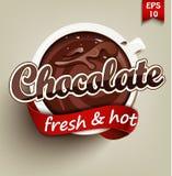 Καυτή και φρέσκια σοκολάτα Στοκ Εικόνες
