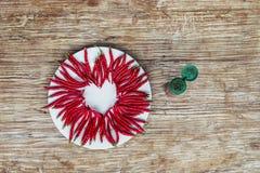 Καυτή καρδιά φιαγμένη από ψυχρό Στοκ Φωτογραφία