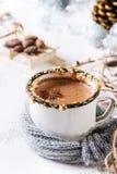 καυτή κούπα σοκολάτας Στοκ Φωτογραφίες