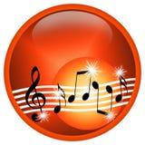 καυτή μουσική Στοκ Εικόνα