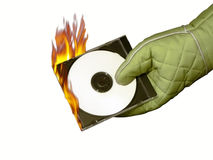 καυτή μουσική Cd Στοκ Εικόνες