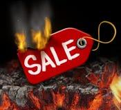 Καυτή πώληση Στοκ Εικόνες