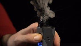 Καυτή σπείρα στο ε-τσιγάρο απόθεμα βίντεο