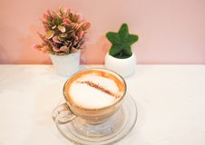 Καυτή τέχνη καφέ latte Στοκ Φωτογραφία
