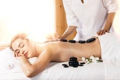 καυτή massage spa πέτρα Στοκ Εικόνες