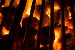 Καυτοί άνθρακες Στοκ φωτογραφίες με δικαίωμα ελεύθερης χρήσης