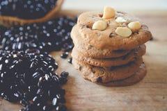 Καυτοί καφές και μπισκότο Στοκ εικόνα με δικαίωμα ελεύθερης χρήσης