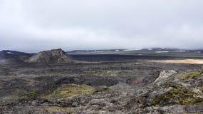 Καυτοί τομέας λάβας Krafla και βουνό Leirhnjúkur Στοκ Εικόνες