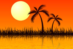 καυτός ήλιος ελεύθερη απεικόνιση δικαιώματος