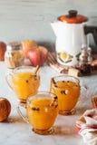 Καυτός θερμαμένος καρυκευμένος μηλίτης της Apple Στοκ Εικόνες