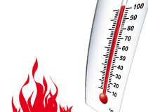 καυτός θερμός διανυσματική απεικόνιση