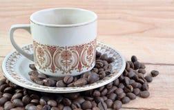 καυτός ισχυρός φλυτζανιών καφέ Στοκ φωτογραφία με δικαίωμα ελεύθερης χρήσης