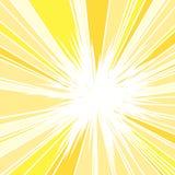 Καυτός και ακτινοβολώντας θερινός ήλιος απεικόνιση αποθεμάτων