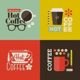 Καυτός καφές. Συλλογή των διανυσματικών στοιχείων σχεδίου Στοκ Φωτογραφίες