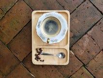 Καυτός καφές americano ή μαύρος καφές στοκ εικόνα