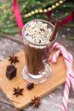 καυτός κρέμας σοκολάτα&sigma Πίνακας Χριστουγέννων Στοκ εικόνες με δικαίωμα ελεύθερης χρήσης