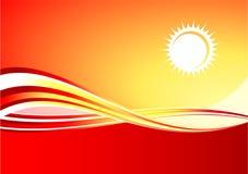 καυτός κόκκινος ήλιος α&n Στοκ Φωτογραφίες