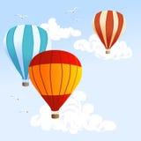 καυτός ουρανός μπαλονιών διανυσματική απεικόνιση