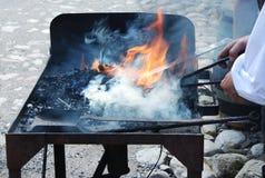 καυτός σίδηρος Στοκ Φωτογραφία