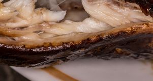 καυτός ψαριών που καπνίζε& κρέας που καπνίζεται Καπνισμένα ψάρια Καπνισμένα σίκαλη ψάρια Στοκ φωτογραφία με δικαίωμα ελεύθερης χρήσης