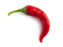 καυτό απομονωμένο κόκκινο λευκό πιπεριών Στοκ Εικόνες
