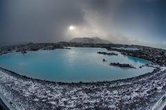 Καυτό ελατήριο λιμνοθαλασσών της Ισλανδίας μπλε Στοκ εικόνα με δικαίωμα ελεύθερης χρήσης