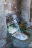 Καυτό ελατήριο Caldes de Montbui, Καταλωνία, Ισπανία Θερμοκρασία ύδατος 76 ºC στοκ φωτογραφίες