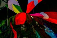 καυτό εσωτερικό μπαλονιών αέρα στοκ εικόνα με δικαίωμα ελεύθερης χρήσης