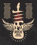 Καυτό θερινό φεστιβάλ Guitare με τα φτερά Φεστιβάλ μουσικής ροκ de ελεύθερη απεικόνιση δικαιώματος