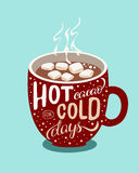 Καυτό κακάο για τις κρύες ημέρες Στοκ εικόνα με δικαίωμα ελεύθερης χρήσης