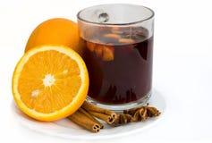 καυτό κρασί πορτοκαλιών Χ& Στοκ Εικόνες