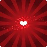 καυτό κόκκινο καρδιών Στοκ Φωτογραφίες