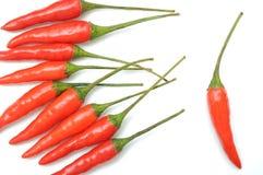 καυτό κόκκινο πιπεριών προτύπων τσίλι Στοκ φωτογραφία με δικαίωμα ελεύθερης χρήσης