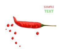 καυτό κόκκινο πιπεριών τσί&lamb έννοια των πικάντικων τροφίμων Κόκκινο χρώμα Στοκ Εικόνες