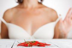 καυτό κόκκινο πιπεριών τσί&lamb Στοκ φωτογραφίες με δικαίωμα ελεύθερης χρήσης