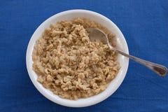 Καυτό κύπελλο oatmeal ot Στοκ εικόνα με δικαίωμα ελεύθερης χρήσης