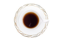 καυτό λευκό τσαγιού φλυτζανιών Στοκ εικόνα με δικαίωμα ελεύθερης χρήσης