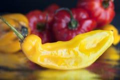 καυτό πιπέρι κίτρινο Στοκ Φωτογραφία