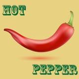 Καυτό πιπέρι τσίλι Στοκ φωτογραφίες με δικαίωμα ελεύθερης χρήσης