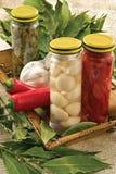 καυτό πιπέρι φύλλων σκόρδο&up στοκ φωτογραφίες