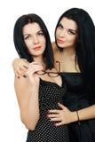 Καυτό προκλητικό brunette δύο Στοκ εικόνες με δικαίωμα ελεύθερης χρήσης